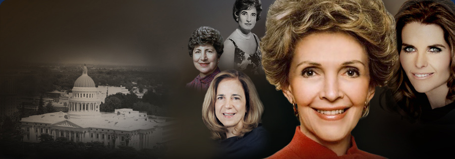 First Ladies: Gayle Wilson, Bernice Brown, Anne Gust Brown, Nancy Reagan, and Maria Shriver